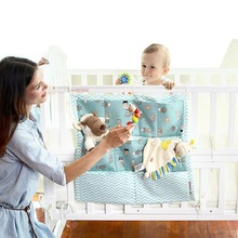 Crib Baby Bed bumper Hanging Storage Bag Multi-functional Cot pocket Bedding Bumper 52*56cm