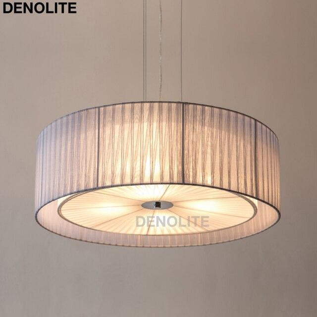 moderne dubbele laag ronde hanger lamp licht blauw wit garen hanglamp voor woonkamer slaapkamer restaurant