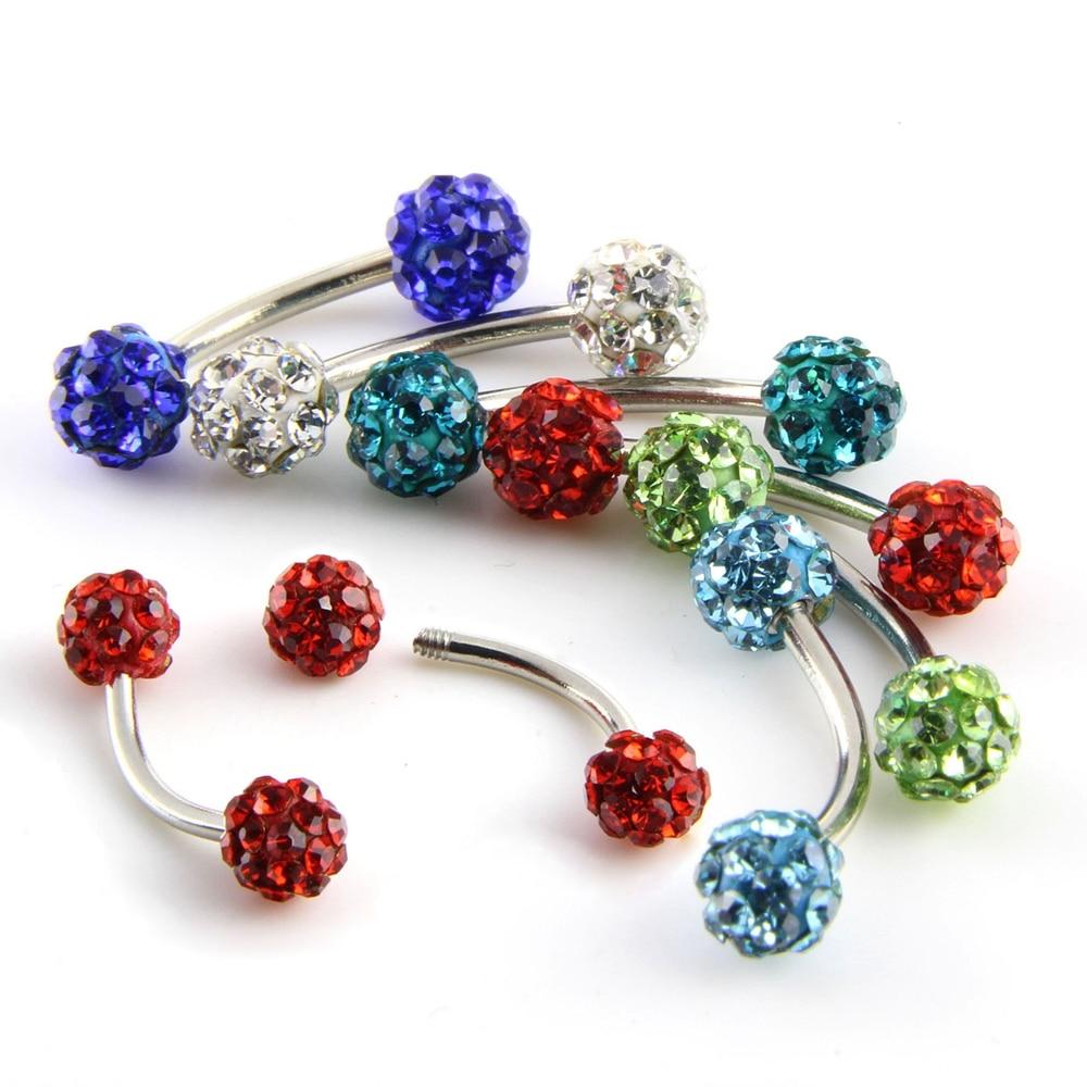 ∞6 colors Rock Stainless Steel Nipple Rings Piercing Body Jewelry ...