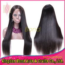 Stock 100% Indian virgin remy human hair Full lace wigs silk straight human hair wig, fashion style lace wigs