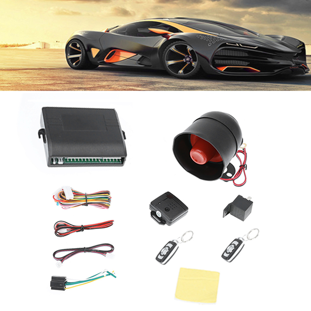 New Universal 1-Way Car Alarm Vehicle System Protection Security System Keyless Entry Si ...