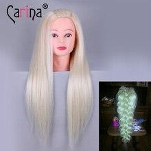 """22 """"волосы манекен головы волосы поддельные Парикмахерские головы куклы Обучение манекен с Человеческие волосы Маник косметологии образования распродажа"""