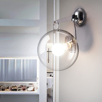 Moderne Mur Lampe Globe De Verre Appliques Luminaire Cuisine Appareils De Chevet Applique Murale à Led Bubble Ball Éclairage À La Maison