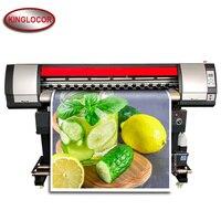 6 pés eco solvente impressora 1800mm grande formato impressora 1.8m vinil máquina de impressão única cabeça impressão xp600