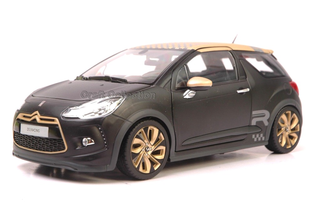 * Gold 1/18 Citroen DS3 2016 Alloy Racing Car New Coming Modell Auto Simulation Model Diecast Mini Vehicle DS 3