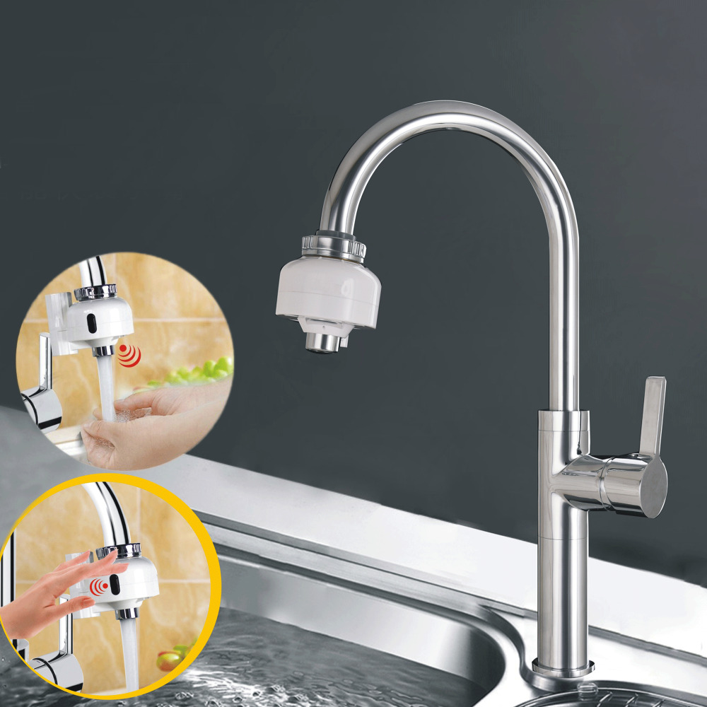 Dual Automatic Touchless Motion Sensors Faucet Fast Assembly Water ...