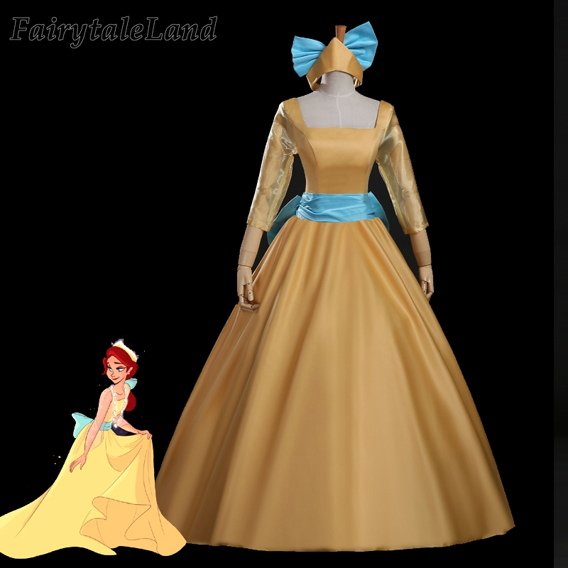 cartoon movie Anastasia cosplay costume fancy Halloween ...
