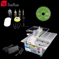 Multifunctional Mini Table Saw Handmade Woodworking Bench Lathe Electric Polisher Grinder DIY Model Cutting Saw B12 Drill Chuck
