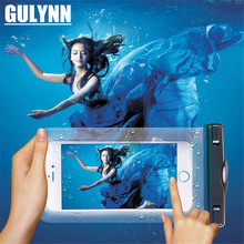 GULYNN For Universal 4.8-6.0 Waterproof Pouch Case Cover Phone Camera Mobile Water proof Bags iphone X 8 6S Plus S9