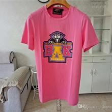 50a1f65284 Balmain para hombre diseñador T camisas rosa amarillo hombres mujeres T camisas  Balmain T camisa talla S-XXL