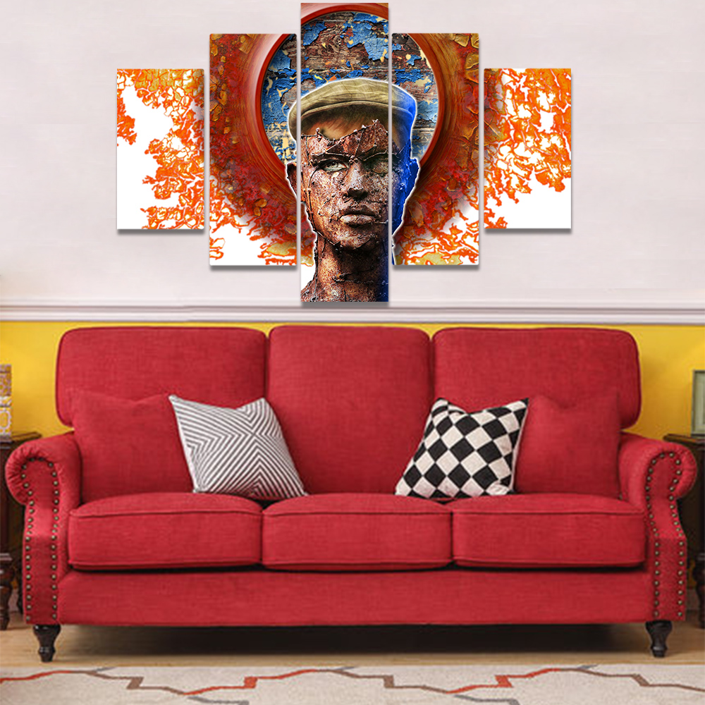 Unframed Canvas Painting A Man With An Iron Mask Picture Prints Wall Picture For Living Room Wall Art Decoration Dropshipping