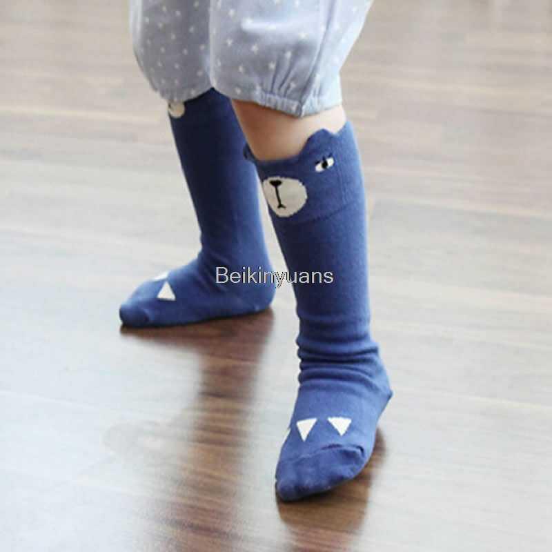 2019 yeni Diz Yüksek Bacak Isıtıcıları Bebek Sıcak tarzı Karikatür Pamuklu Çorap Erkek Kız Tilki Ördek Desen Bacak Isıtıcıları çocuklar çorap