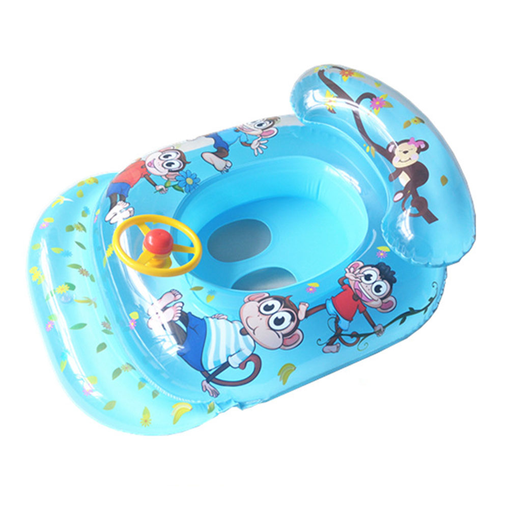 PVC Blue Yellow Safe kids Baby Infant Child Swimming Ring Inflatable ...