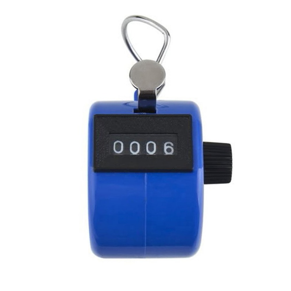 New Mini 4 Digit Hand Tally Counter Mechanical Digital Manual Counting Tally Finger Clicker for Sports Golf Training Max. 9999