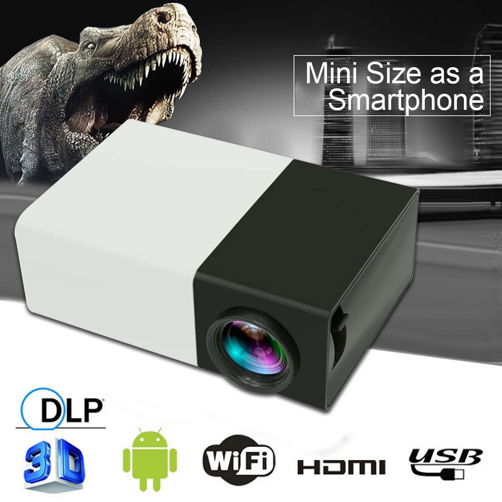 Mini 1080p full hd led projector lcd smart home theater av for Small lcd projector reviews