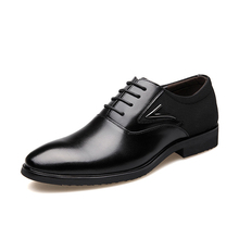 Business Men's Basic Casual Dress Shoes,Elegant Genuine Leather Pointed Black/Brown Flat,Meeting Office Formal Big Size Shoess