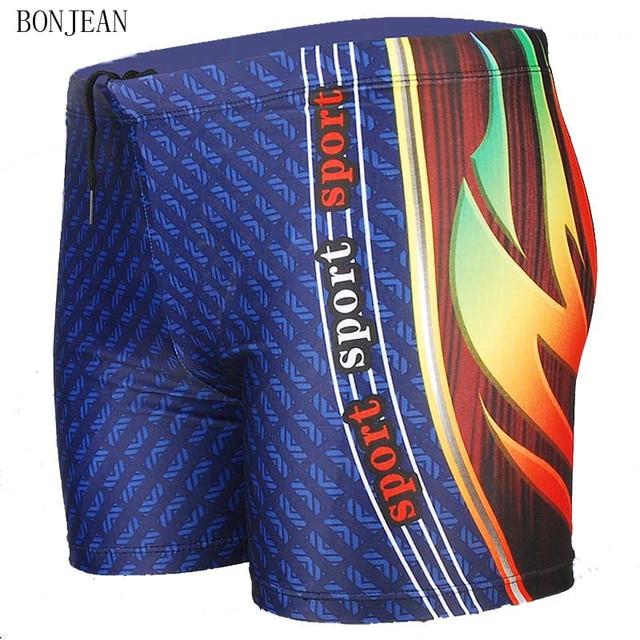 66de2f3b50 Men's Swimming Trunks Plus Size Men Swimwear 2018 New Summer Dragon Swimsuit  Beach Bathing Suit Costume Uomo Da Bagno