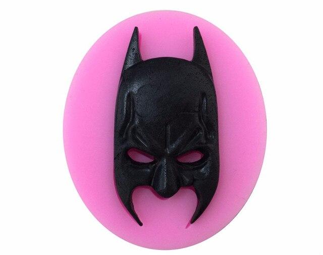 Cartoon Hero Batman Face Silicone Fondant Soap 3D Cake Mold Cupcake