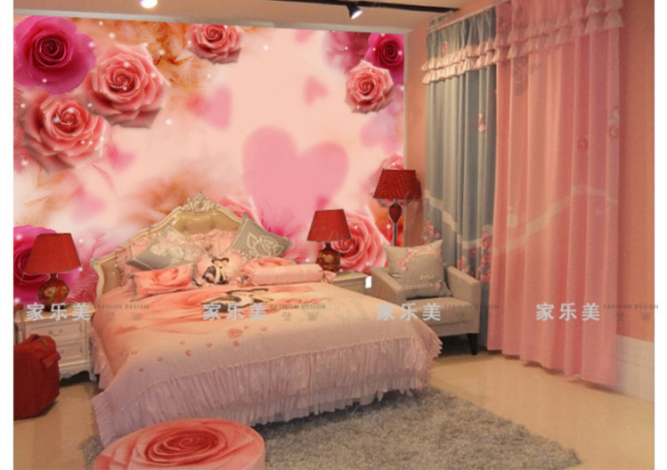 3d Wallpapers For Walls Pakistan Endearment Beauty Mural Wedding House Bedroom Bed Wall