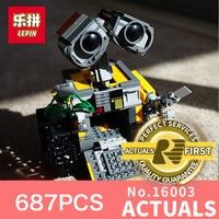 687Pcs 16003 New Lepin Idea Robot WALL E Building Set Kits Toys Educational Bricks Blocks Bringuedos