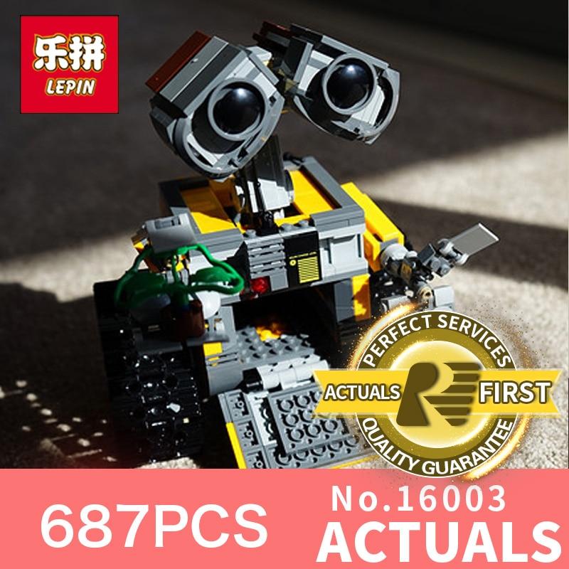 цены 687Pcs Lepin 16003 Idea Robot WALL E Building Set Kits Toys Educational Bricks Blocks Bringuedos LegoINGlys 21303 for Children