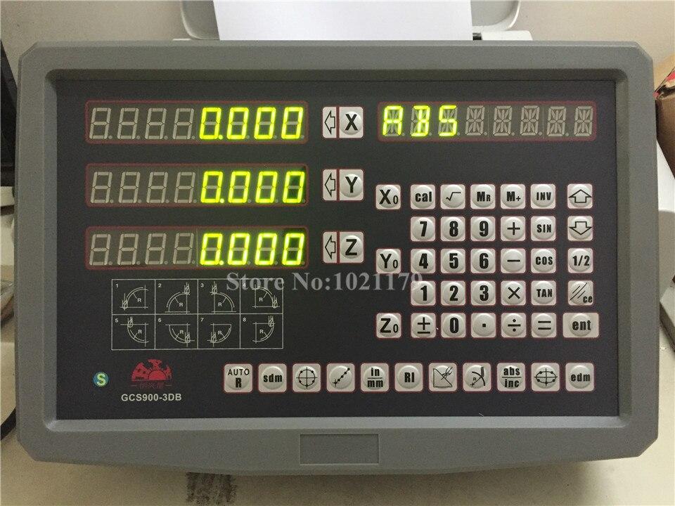 Nouvelle vente HXX fraisage perceuse tour EDM Machine 3 axes numérique lecture DRO et 0.005mm numérique linéaire échelle mise à jour de GCS900-3D