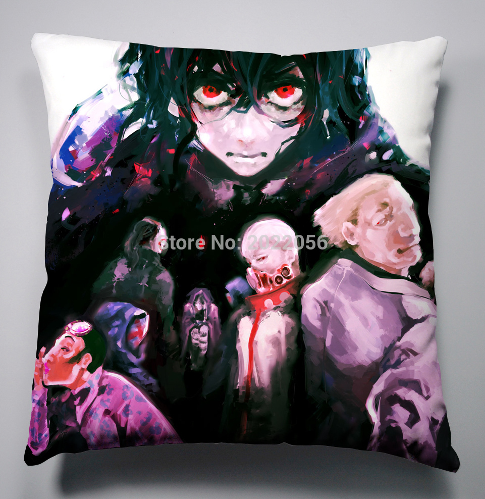 Anime Manga Tokyo Ghoul Pillow 40x40cm Pillow Case Cover Seat Bedding Cushion 005