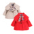 Causal lindo baby girl trench coat cinturón sólido estilo Europeo capa de 9-24 M bebés recién nacido infantil prendas de vestir exteriores ropa de abrigo caliente