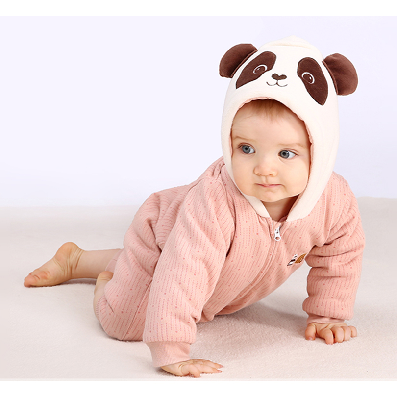 Pureborn Baby Girl Clothes Christmas Rompers Cute Panda Newborn Baby Clothes Winter Jumpsuit Coveralls One-piece New year Gift baby romper girl rompers christmas baby clothes newborn christmas baby gift new born cotton baby christmas clothes 1pcs lot a mc