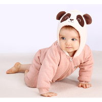 Pureborn Baby Girl Clothes Christmas Rompers Cute Panda Newborn Baby Clothes Winter Jumpsuit Coveralls One Piece