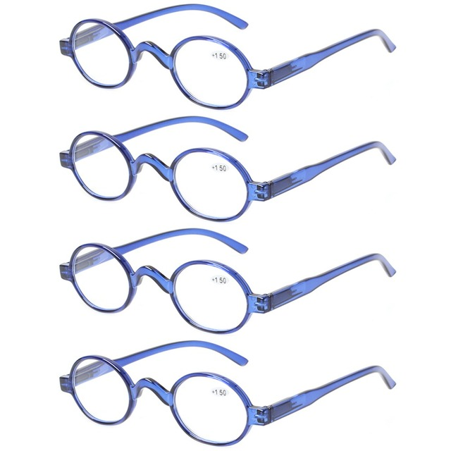 56c08d49319 4 pack fashion mini reading glasses women and men spring hinges round  eyeglasses frames readers