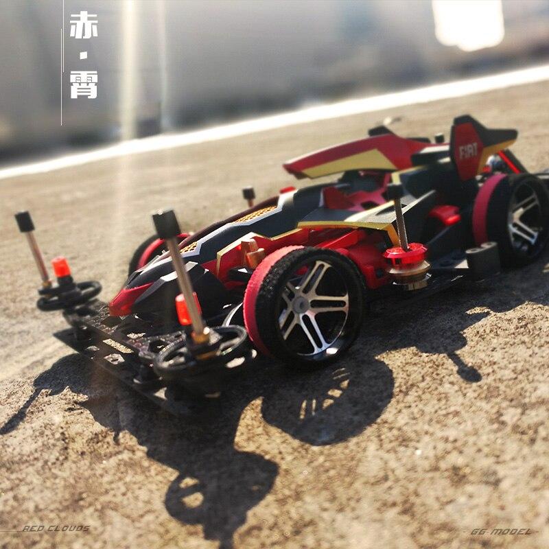 Ordine elevato RC 4WD Auto Da Corsa Genuino Creativo Professionale Velocità Dell'automobile di Telecomando 4x4 KIT Carrozzeria In Fibra di Carbonio