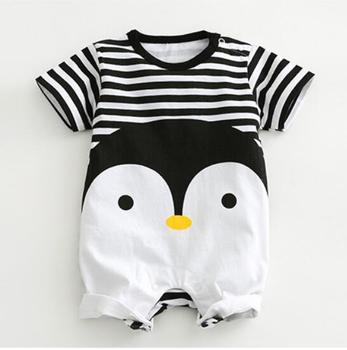 2019 New arrival Baby Rompers Cotton baby boy girl summer short sleeve costume penguin Jumpsuits Roupas Bebes Infant Clothing