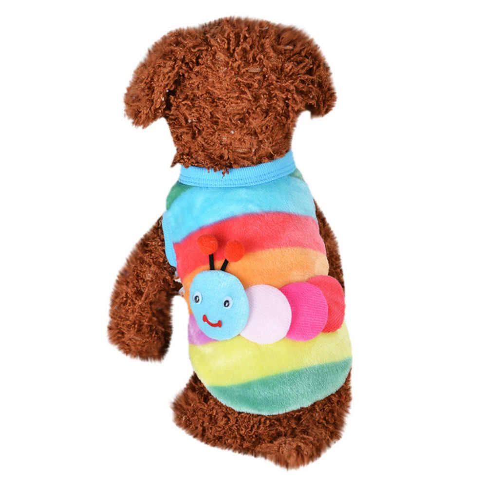 Transer Dog Sweater Sweater For Dogs Winter Pull Chien Multicolor Cute Dog Puppy Clothing 18Nov29