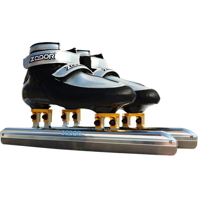 2018 professionnel terrain piste courte patins à glace en ligne course de vitesse chaussures de patinage Shorttrack 380mm 410mm 430mm lame de glace couteau