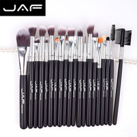 JAF 20pcs Makeup Brush Set Face Eye Shadow Foundation Blush Blending Cosmetics Tool Synthetic Hair Taklon