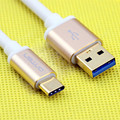 USB 3.1 Type C to USB3.0 Cable Data Sync Transfer Fast Charger Speed Metal Gold Plug for Macbook Chromebook Nokia N1 Nexus 5X 6P
