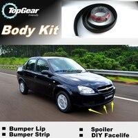 NOVOVISU For Chevrolet Classic Bumper Lip Lips / Top Gear Shop Spoiler For Car Tuning / TOPGEAR Body Kit + Strip