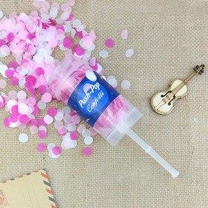 Image 3 - 10 Cái/bộ Push Pop Confetti Con Popper Cho Đám Cưới Hạnh Phúc Sinh Nhật Bé Trai Giấy Màu Hồng Nàng Tiên Cá Confetti Trang Trí Tiệc