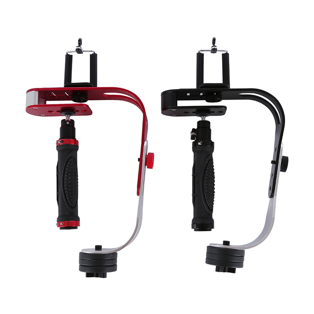 Black Red Handheld Video Stabilizer Camera Steadicam Stabilizer for Canon Nikon Sony Gopro Hero Phone DSLR DV With Phone holder