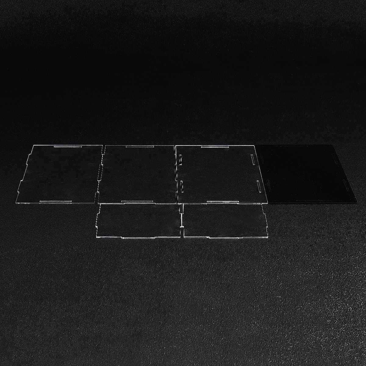 شفافة الاكريليك الجمعية عرض علبة علبة تخزين الغبار تظهر صندوق 20X10X10 سنتيمتر