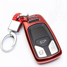 TPU Car Key Cover Case For Audi A4 A4L 4m 8 S Allroad 2016 2017 2018 Q5 New Q7 TT TTS B9 A5 S5 QT Car Key Holder Car Accessories(China)