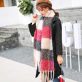 2017 Autumn and Winter New Women Plaid Scarves Female Big Tassels Winter Thickening Warm Women Long Scarf Shawls HYK-25