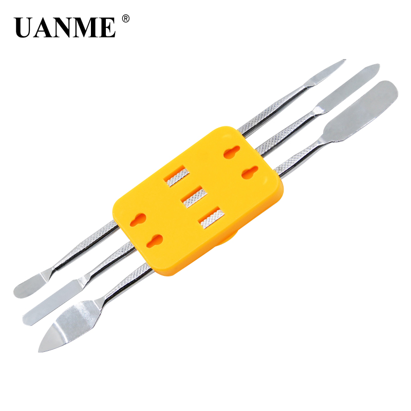 UANME 3PCS Double-end Metal Spudger Opening Disassembly Rods Repairing Tools Kit