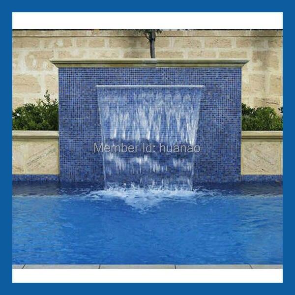 acrylic swimming pool waterfall water feature, wall waterfall-in ...