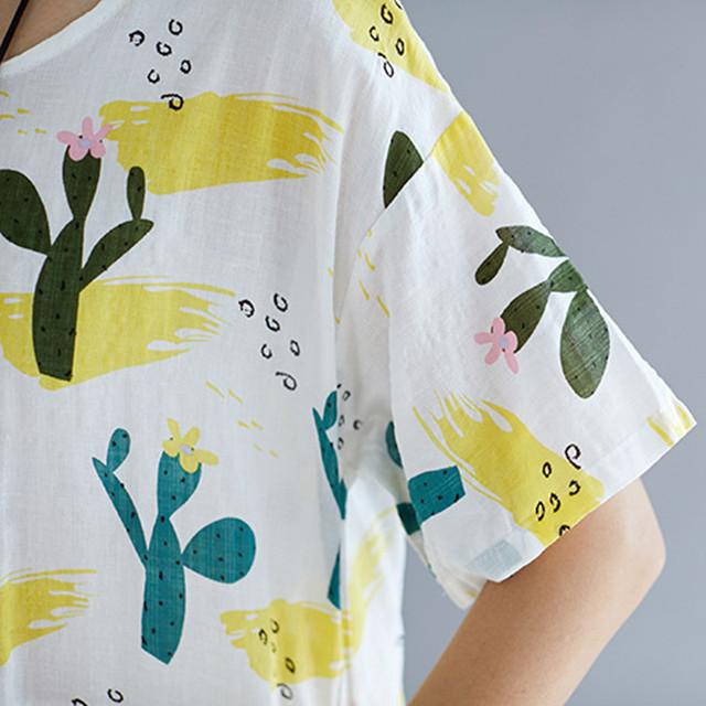 Cactus Print Summer Dress