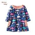 Baby Girls Clothing Spring Princess Dresses For Girls Children Long Sleeve Kids Cartoon Floral Animal Soft Dresses For Girls