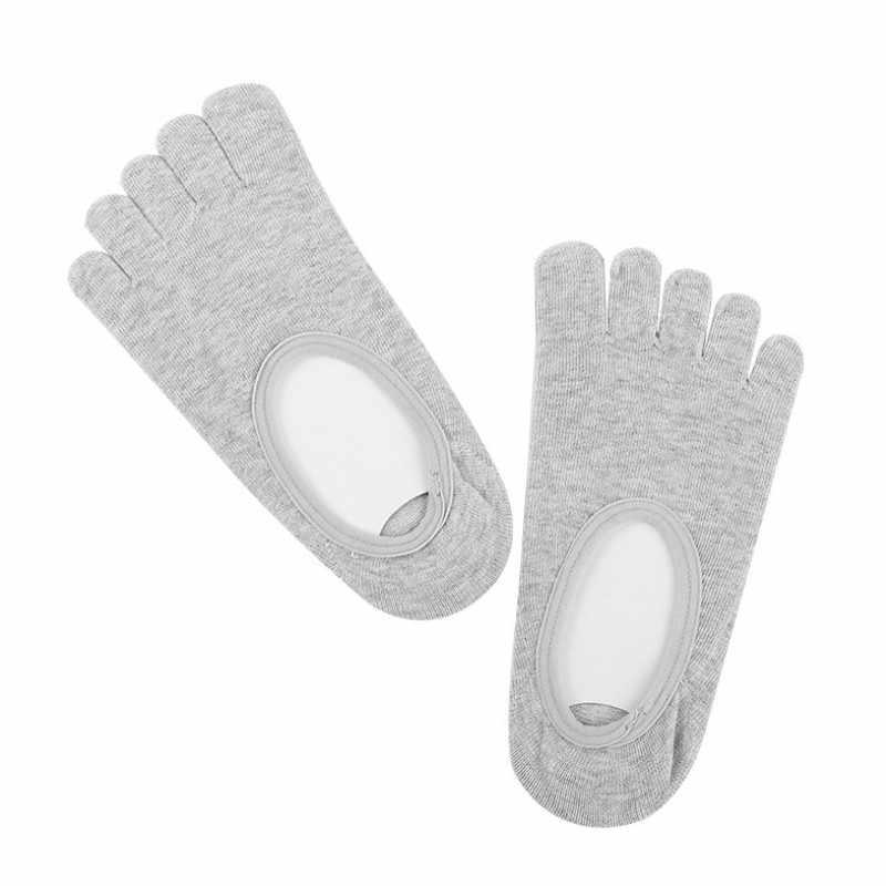 2019 새로운 Sokken 남자의 보이지 않는 발가락 양말 여름 얕은 입 실리콘 미끄럼 코튼 거리 착용 남자 4 색 F84 선물