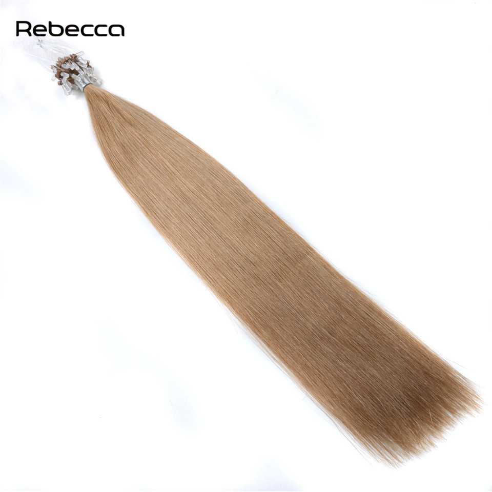 Brazilian straight non remy hair loop micro ring hair extensions brazilian straight non remy hair loop micro ring hair extensions 100 real human hair rebecca hair 18 color 1gstrands 50gset in micro loop ring hair pmusecretfo Choice Image