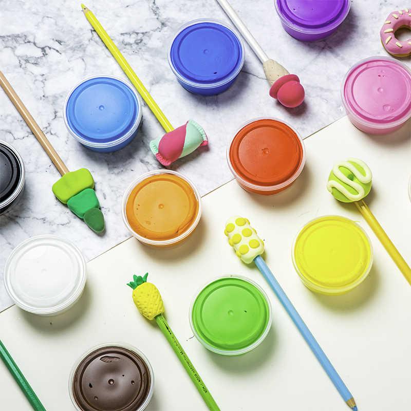DIY 24 цвета волшебная модель глиняные наборы ультра-легкие слизь воздуха сухой фимо наборы с инструментом моделирования мягкий пластилин игрушка для взрослых детей